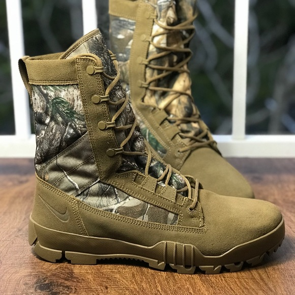 "factory authentic 76e1c 152e3 NWT Nike SFB 8"" Jungle Realtree Coyote M"